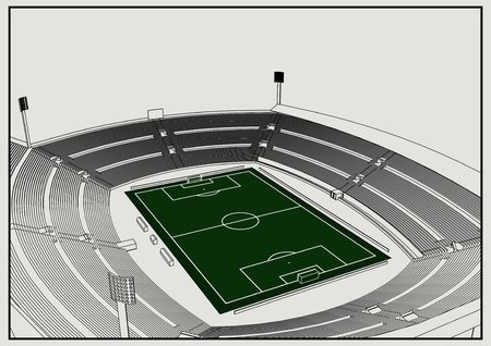 soccer stadium: Foodbal - Soccer stadium Illustration
