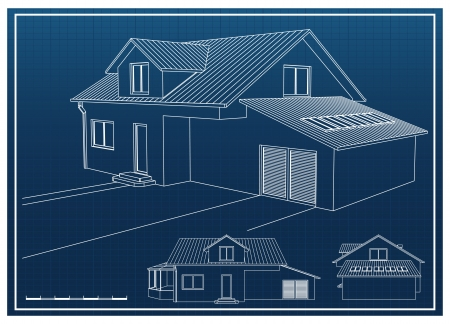 architect plans: House Blueprint