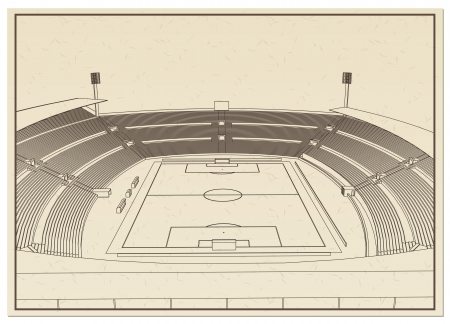 Blueprint of foodbal - soccer stadium Stock Vector - 18444079