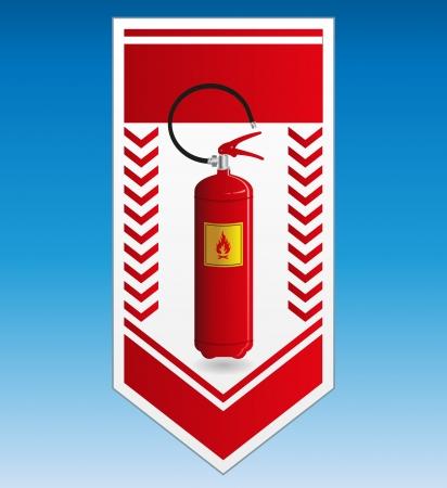 emergency exit label: Fire extinguisher label