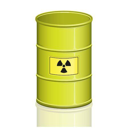 barrel radioactive waste: Radioactive Barrel Illustration