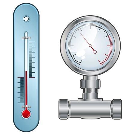 pressure gauge: Thermometer or Pressure Gauge
