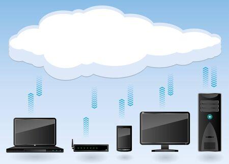 Cloud computing concept Stock Vector - 18887608