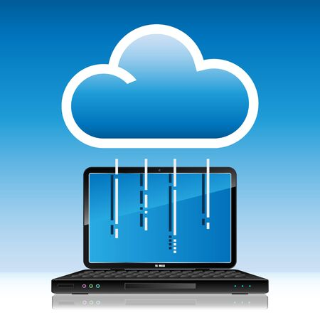 computing device: Cloud computing concept Illustration
