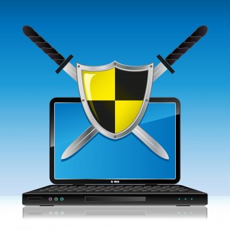 an antivirus: Antivirus Illustration