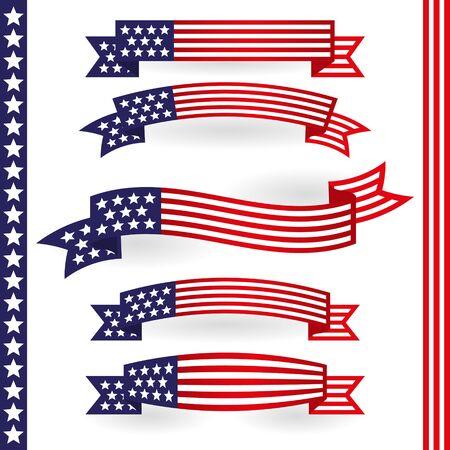 patriotic america: American Ribbon
