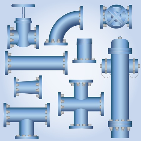 plumber with tools: Plomer�a elemento Vectores