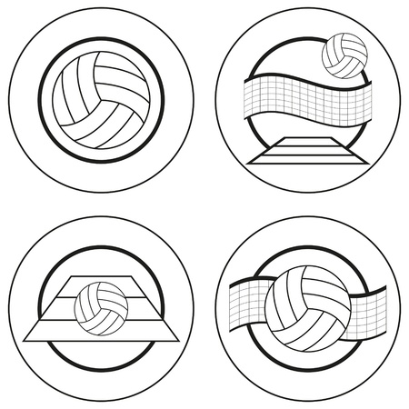 volleyball net: Volleyball Blank Emblems