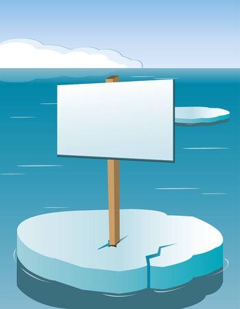 Blank Board on Iceberg