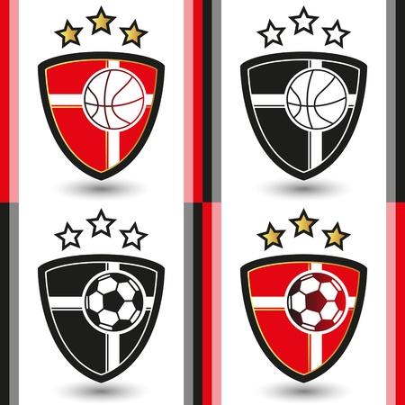 Basketball and Soccer Emblem