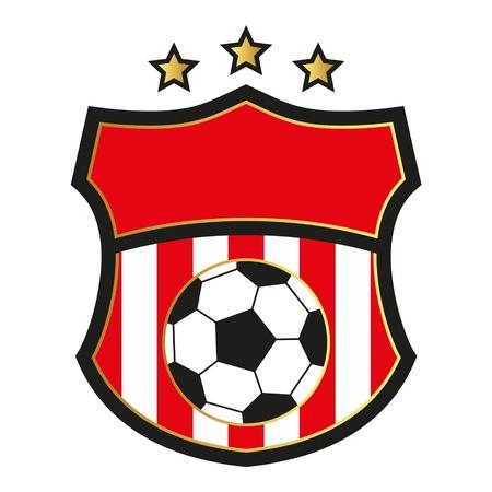 Emblema del fútbol Foto de archivo - 18473734