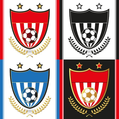 Soccer Emblems Stock Vector - 18473811
