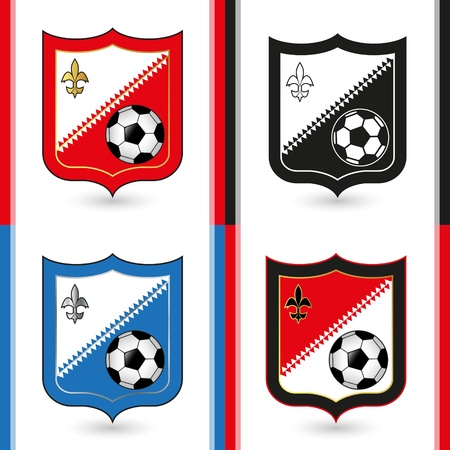 Soccer Emblems Stock Vector - 18473805