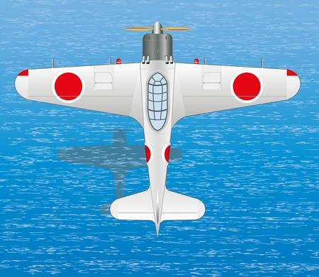 japan aircraft Ilustrace