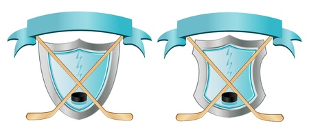 Two Ice Hockey Emblems Vector