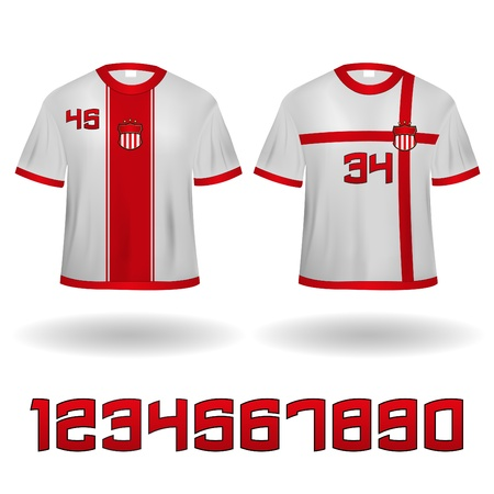 Sport Jerseys Veector Clip-Art with Numbers set Vector