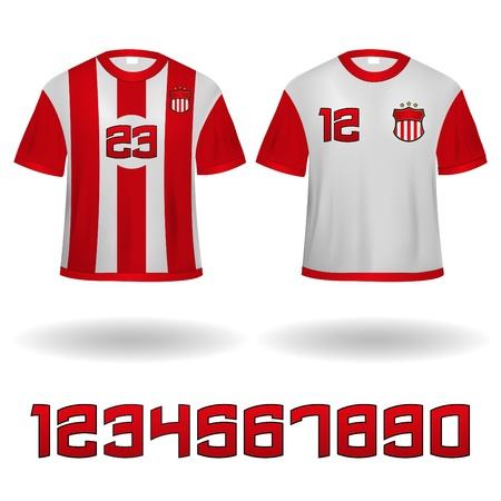 sports jersey: Sport Jerseys Veector Clip-Art with Numbers set