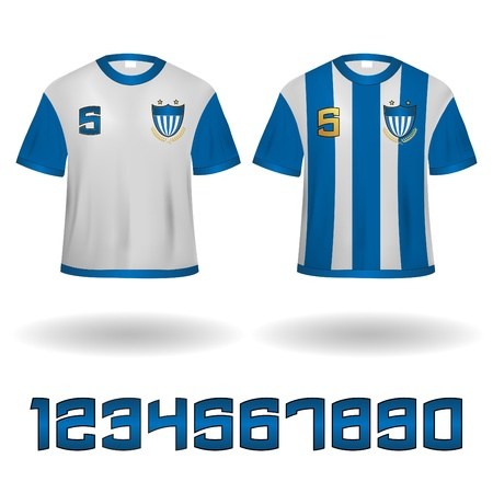 jersey: Sport Jerseys Veector Clip-Art with Numbers set