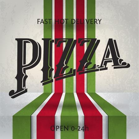 피자 포스터 일러스트