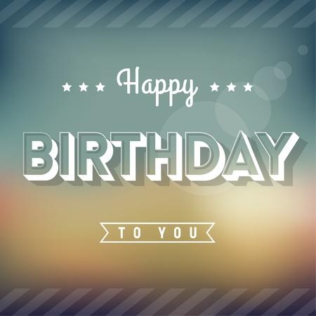 Happy Birthday Greeting Card - Vintage Style Typography