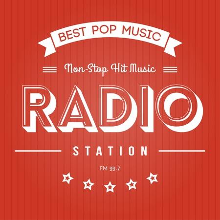 radio station: Retro Poster for Pop Music Radio
