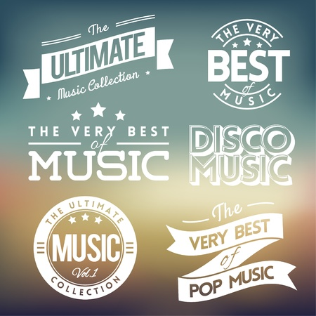 Collection of Labels with Music Themes