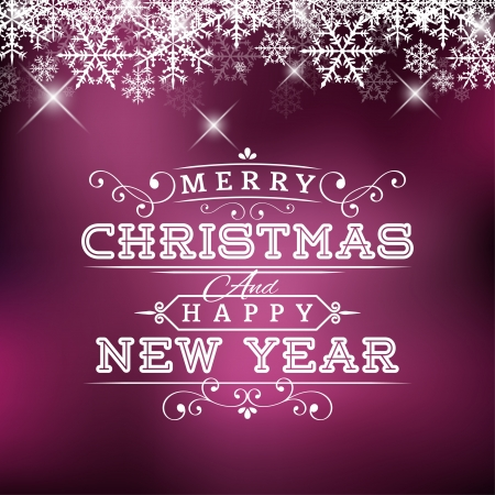 Christmas and New Year Greeting Card and Label Vector
