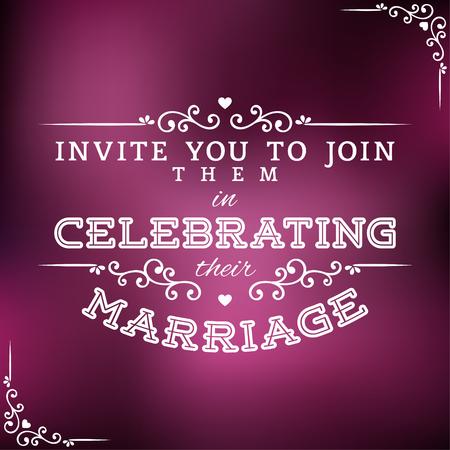 Luxury Wedding Invitation Vector Design Element