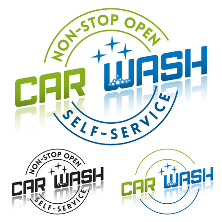 car service station: Car Wash Service Label Template