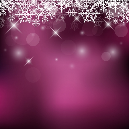 Decorative Holiday Background with Snowflakes and Sparks Vector