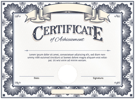 Diploma or Certificate Template with Custom Typography Vector