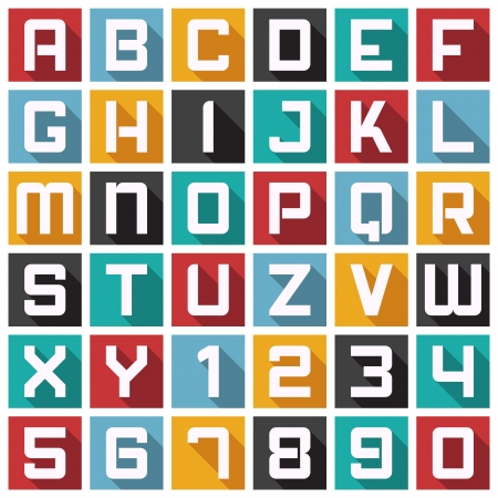 Vector Alphabet in Modern Icon Style.