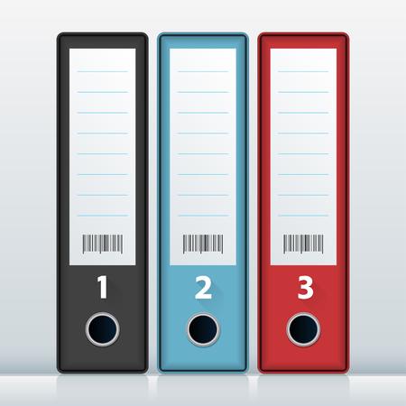 Vector illustration of Office File Folderds