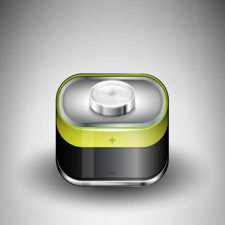 ios: Batterie Vector ic�ne dans le style iOS