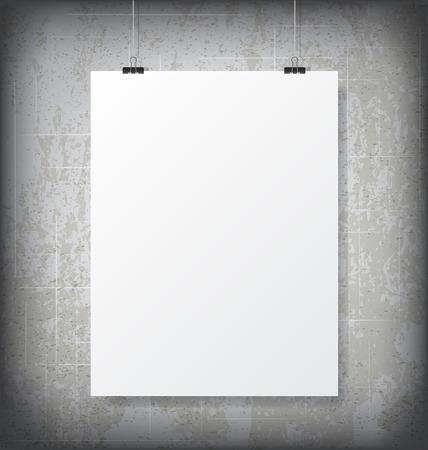 포스터 MockUp 일러스트