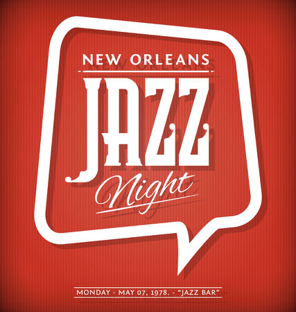 music event: Vector Template of Poster for Jazz Night Event