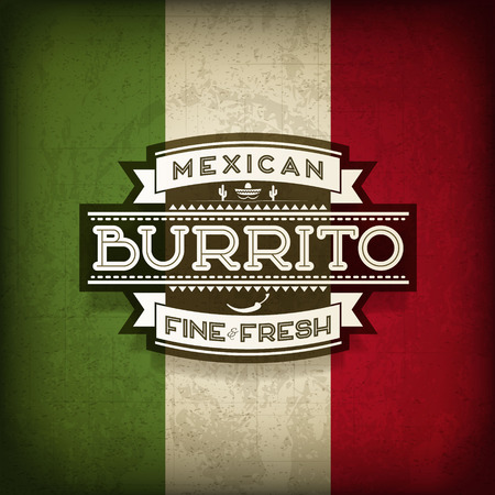 burrito: Mexican Burrito Food Label