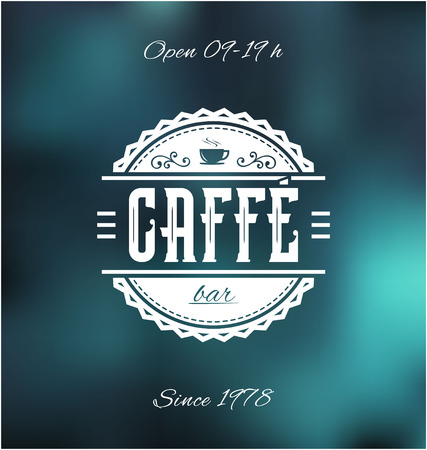 caffe: Retro Caffe Bar Label Vector Illustration