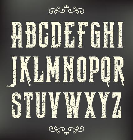 Retro Vintage Grunge Vector Alphabet Design