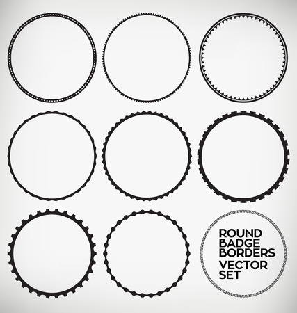 seal stamp: Round Border Design Element