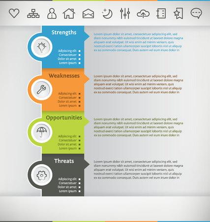 foda: Plantilla para Infografía con Icon Set Vectores