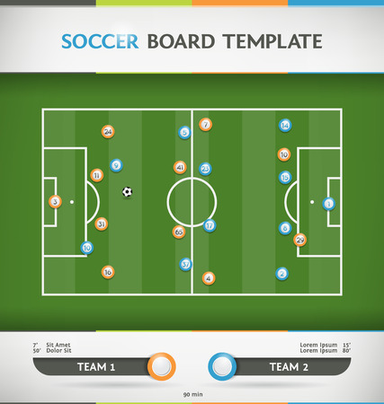 soccer field stadium: Soccer Football Tactic Board Infographic Template Illustration