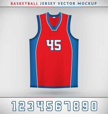 現実的なベクトル模擬バスケット ボール ジャージー数のアップ  イラスト・ベクター素材