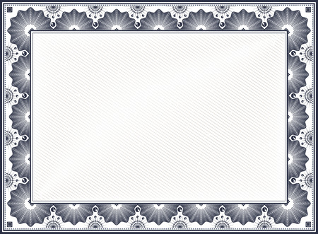 Diploma or Certificate Blank Vintage Template
