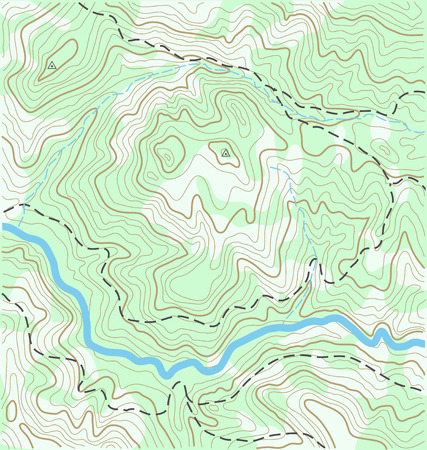 Abstract Topographic Map Vector Background Illustration