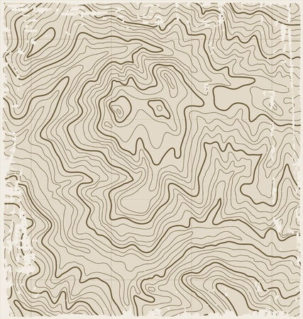 topographic: Abstract Old Grunge Vector Topographic Map