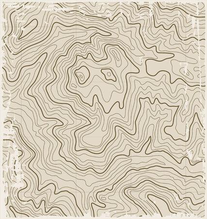 Abstract oude grunge Vector Topografische kaart