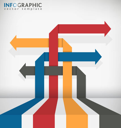 interlaced: Interlaced Arrow Abstract Infographic Vector Template