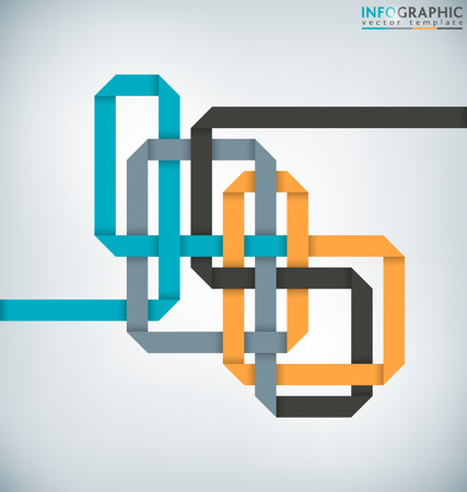 interlaced: Abstract Interlaced Ribbon Infographic Background Illustration