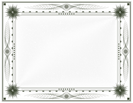 Blank Diploma or Certificate Vector Template Letter Format